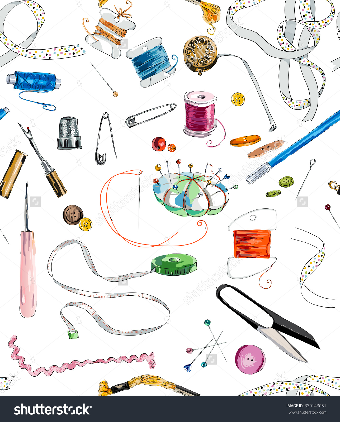 Tools And Equipment In Sewing.
