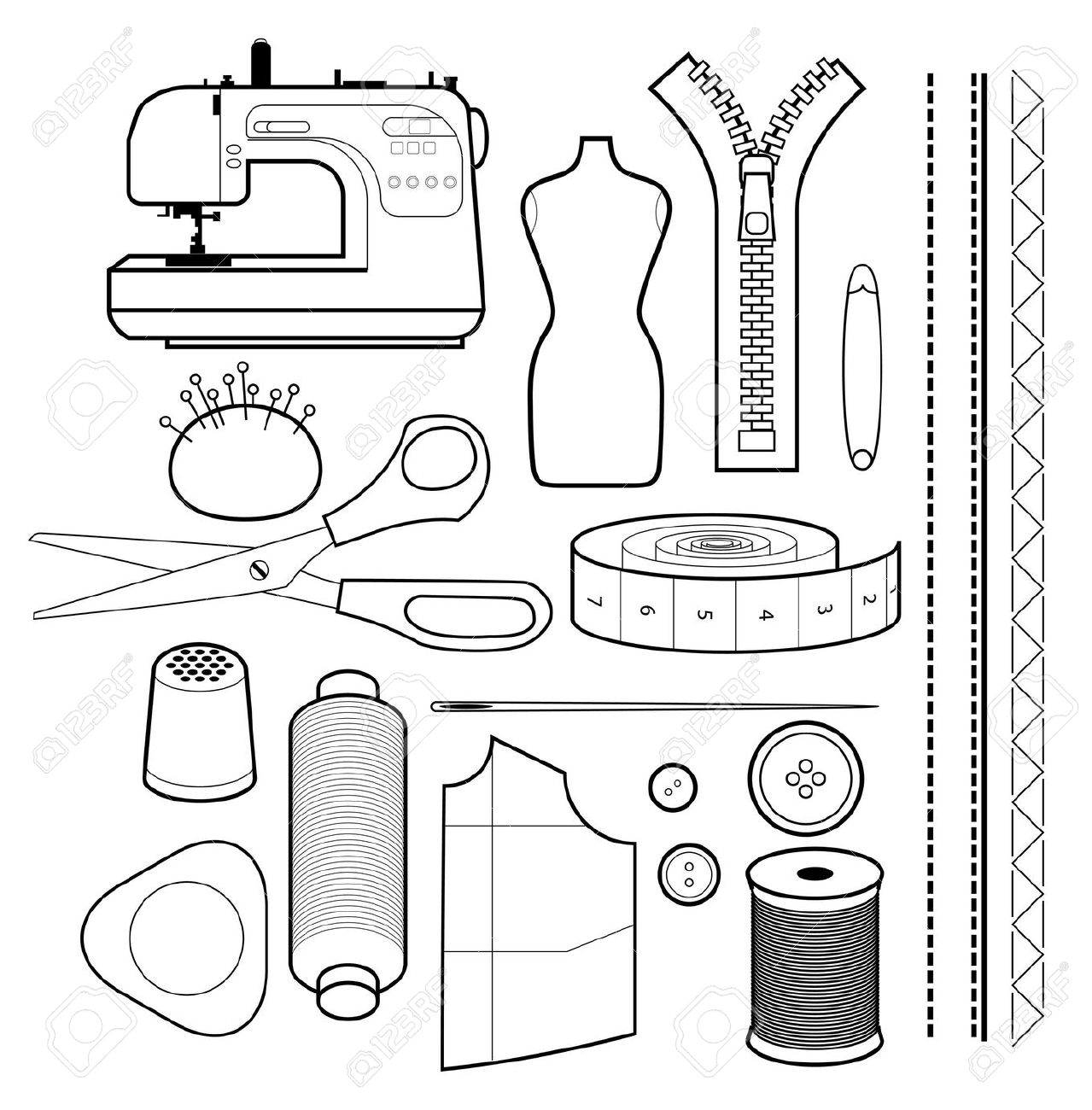 sewing equipment clipart #4
