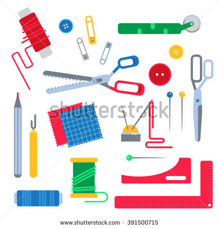Sewing Tools Stock Images, Royalty.