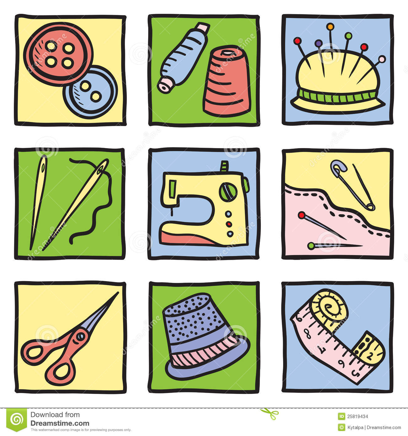 Sewing Equipment Clipart.
