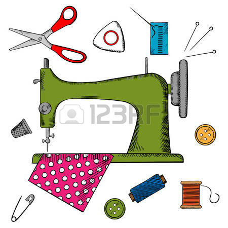 sewing equipment clipart #13