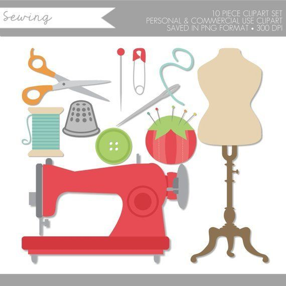Sewing Clipart,Sewing Clip Art,Sewing Machine Clipart.