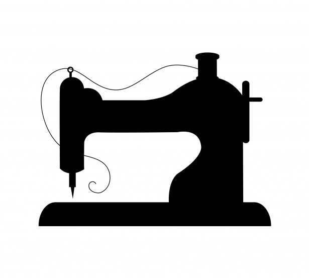 Sewing Machine Vintage Silhouette Free Stock Photo.