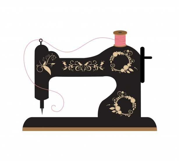 Sewing Machine Retro Clipart Free Stock Photo.