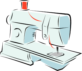 Sewing Machine Clipart.