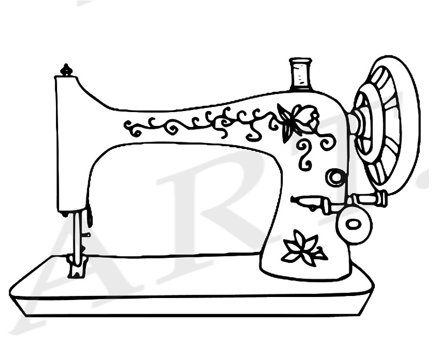 sewing machine clipart black and white 10 free Cliparts ...