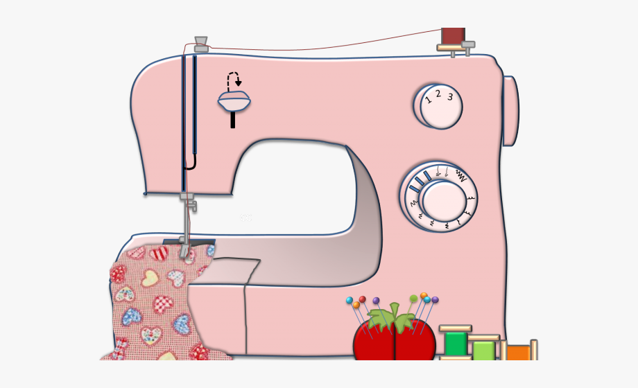Pink Sewing Machine Clipart , Transparent Cartoon, Free.