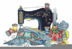 Upholstery Sewing Machine Clipart.