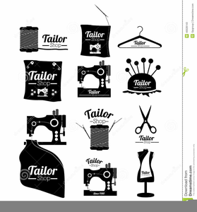 Sewing Machine Logo Clipart.
