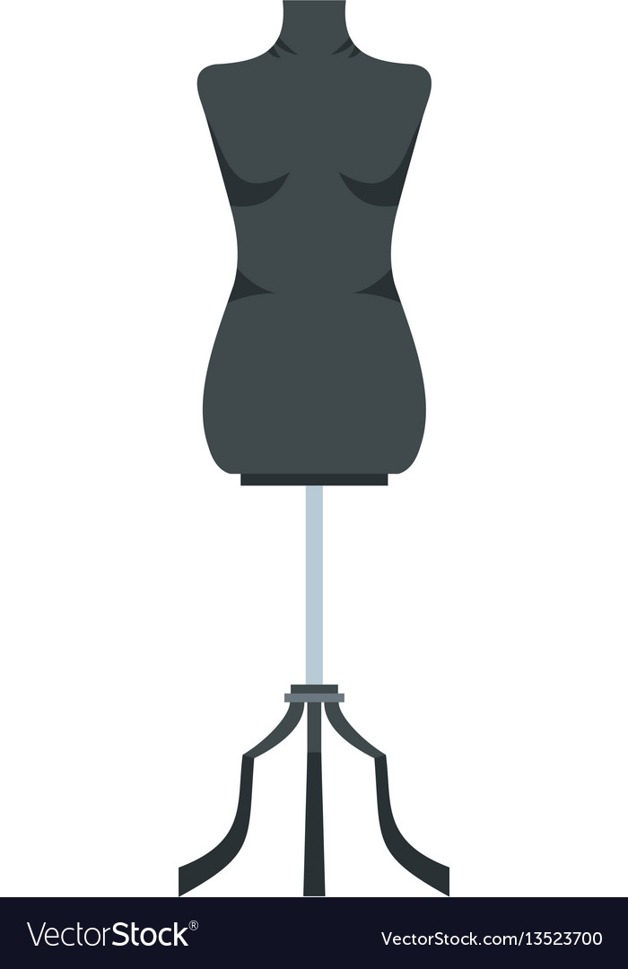 Sewing mannequin icon flat style.