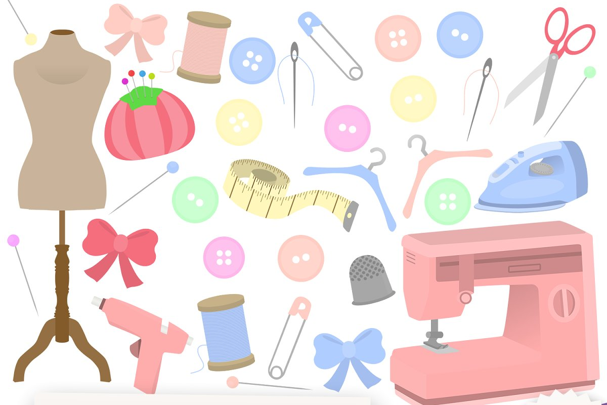 Sewing Clipart Collection.