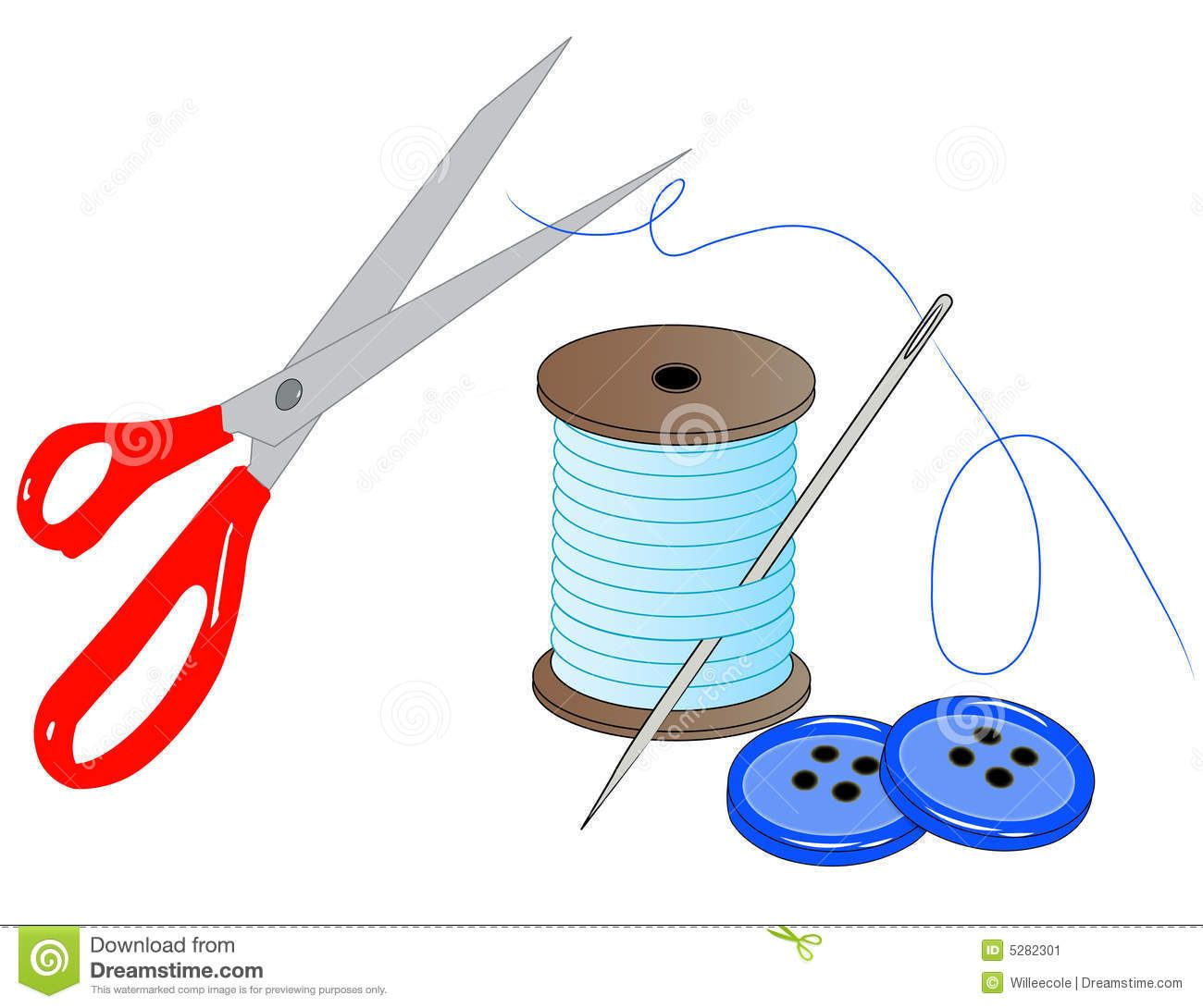 Sewing Kit Clip Art.