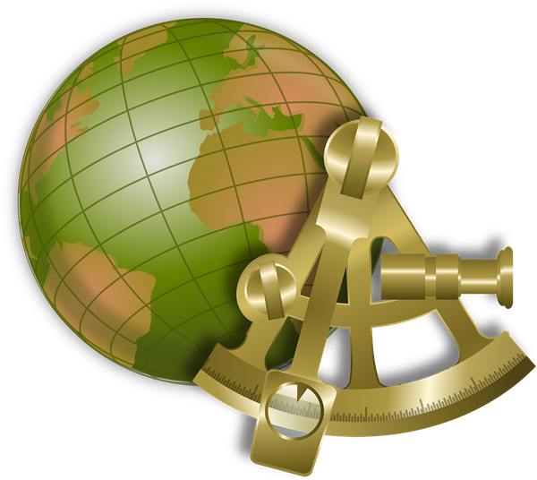 Free Sextant & Globe Clip Art.