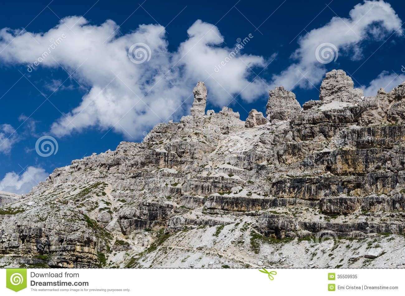 Sexten Dolomites In South Tyrol, Italy Royalty Free Stock Photo.