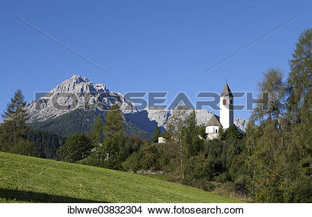 "Stock Photo of ""Parish Church of St. Magdalena, Vierschach, Puster."