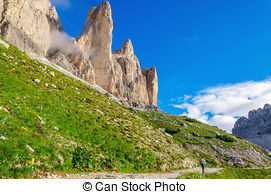 Stock Photos of Beautiful mountain landscape of Dolomites, Italy.
