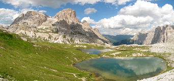 Sexten Dolomites; Altensteiner Valley Stock Photo.