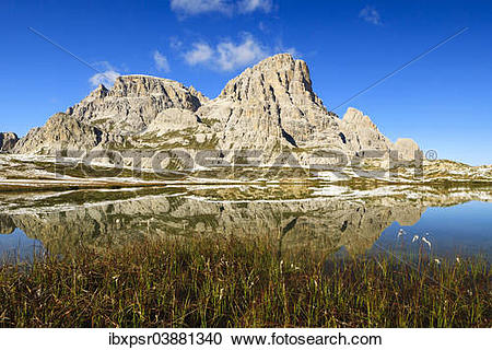 "Stock Photography of ""Bodensee lake in the Sexten Dolomites, South."