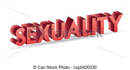 Vector Clipart of sexuality 3d text isolated over white csp5420330.