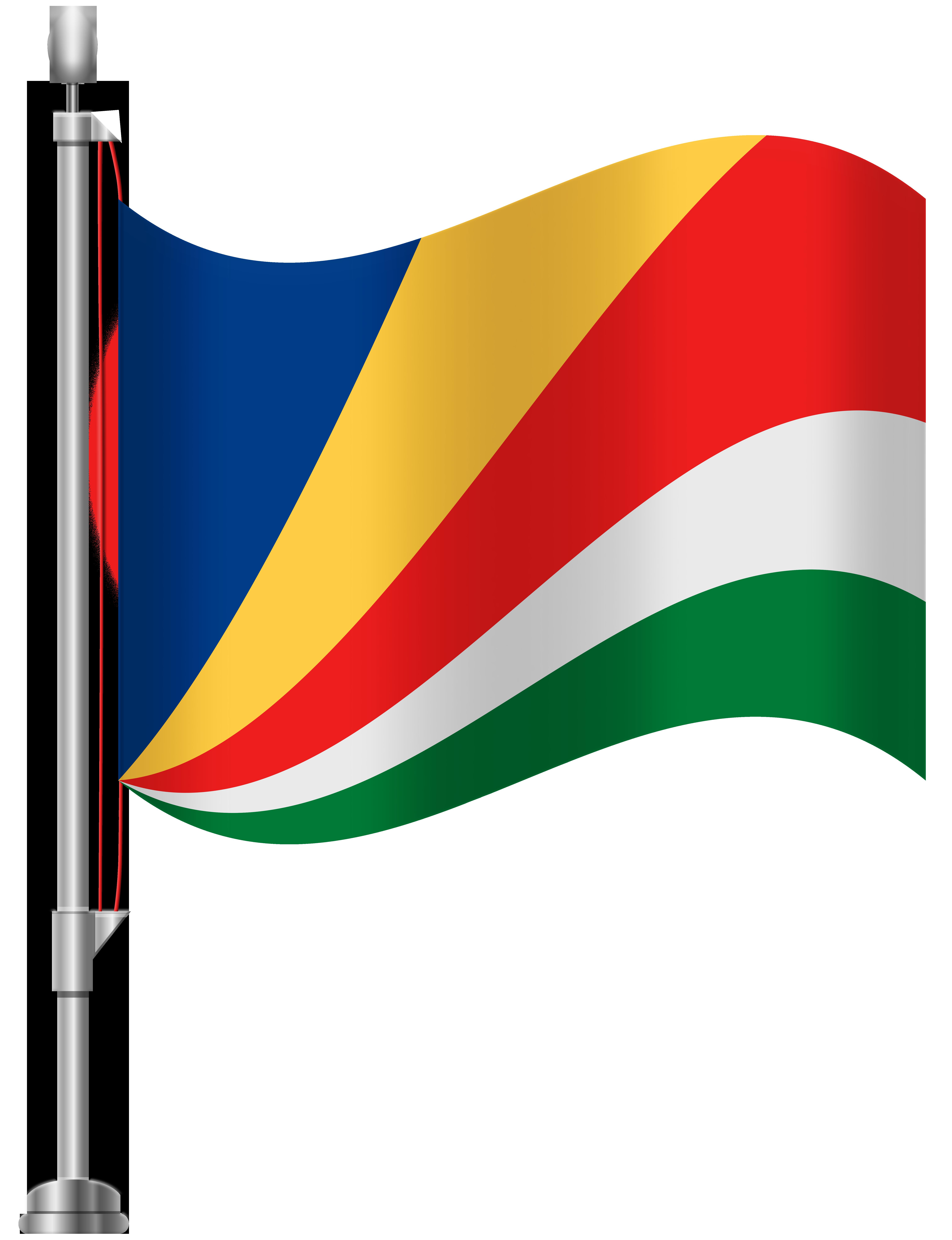 Seychelles Flag PNG Clip Art.
