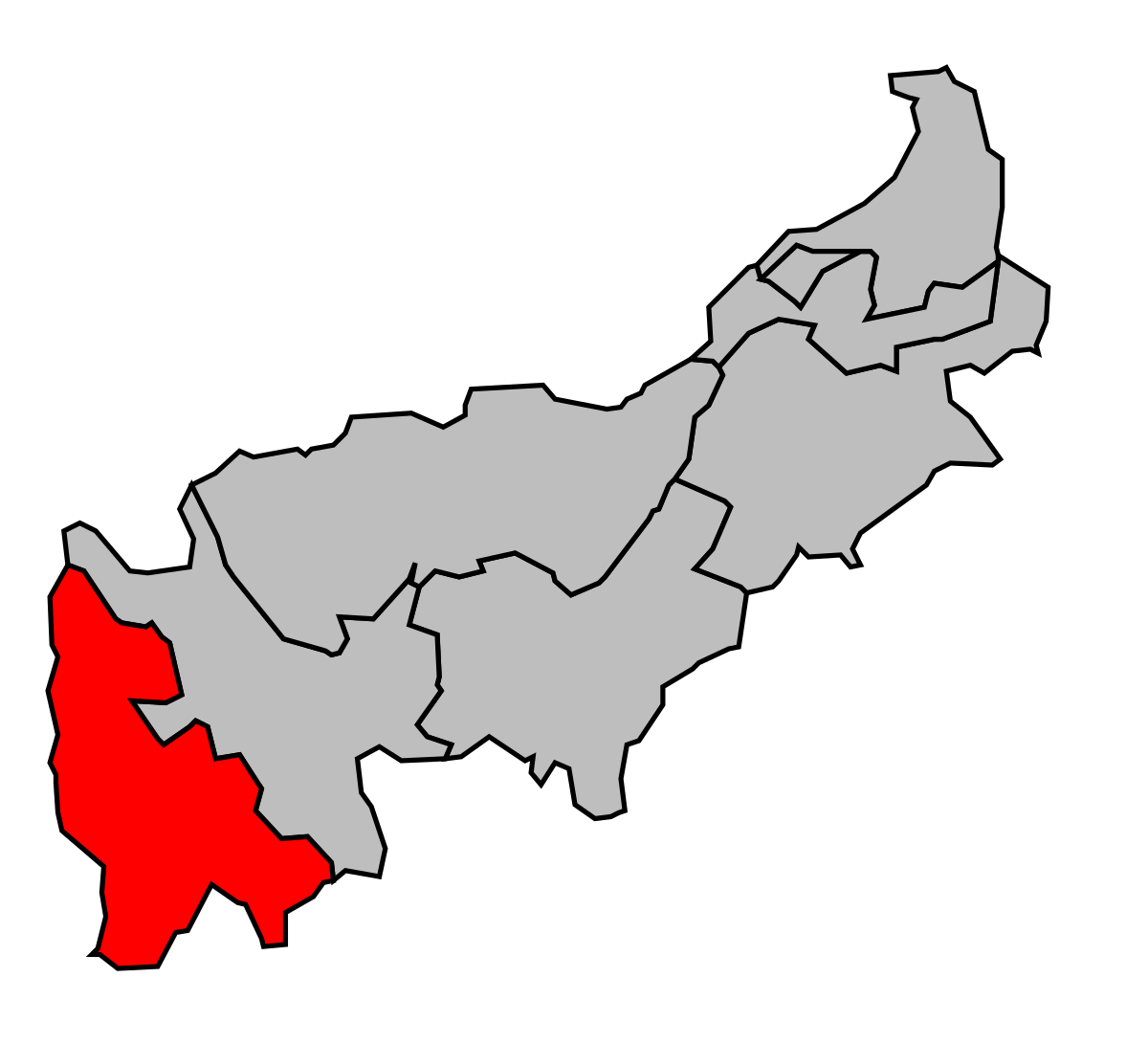 Cantón de Seyssel (Alta Saboya).