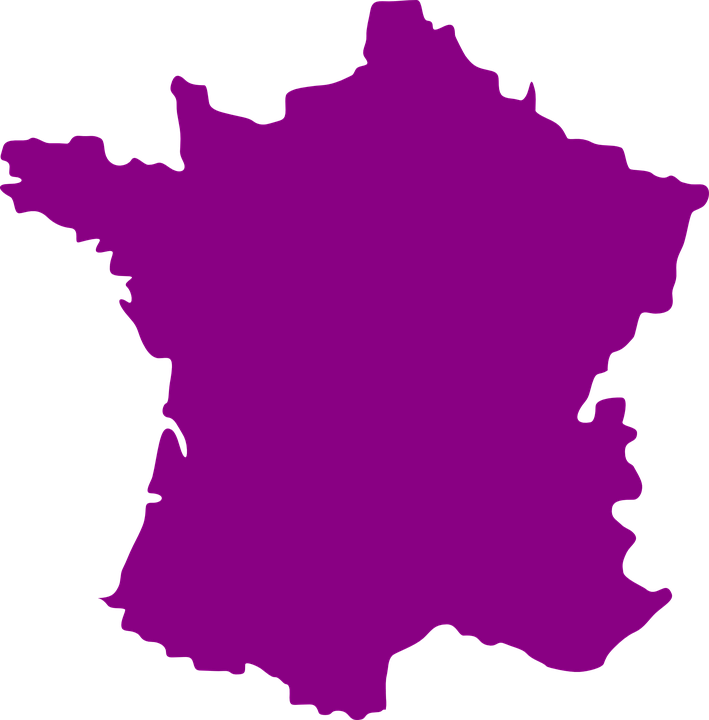 Free vector graphic: France, Country, Europe, Map.