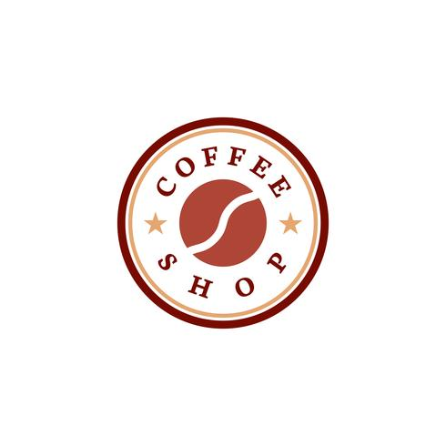 Retro coffee shop logo vector.