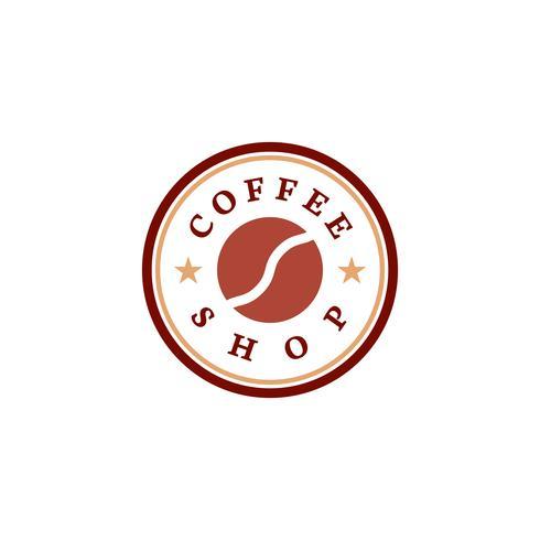 Retro coffee shop logo vector.