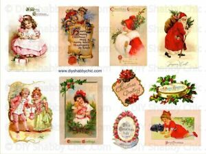 Details about Furniture Decal Image Transfer Vintage Shabby Chic Father  Christmas Santa Clause.