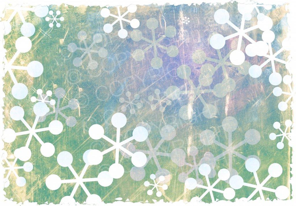 Shabby Chic Christmas Snowflake Background Design.