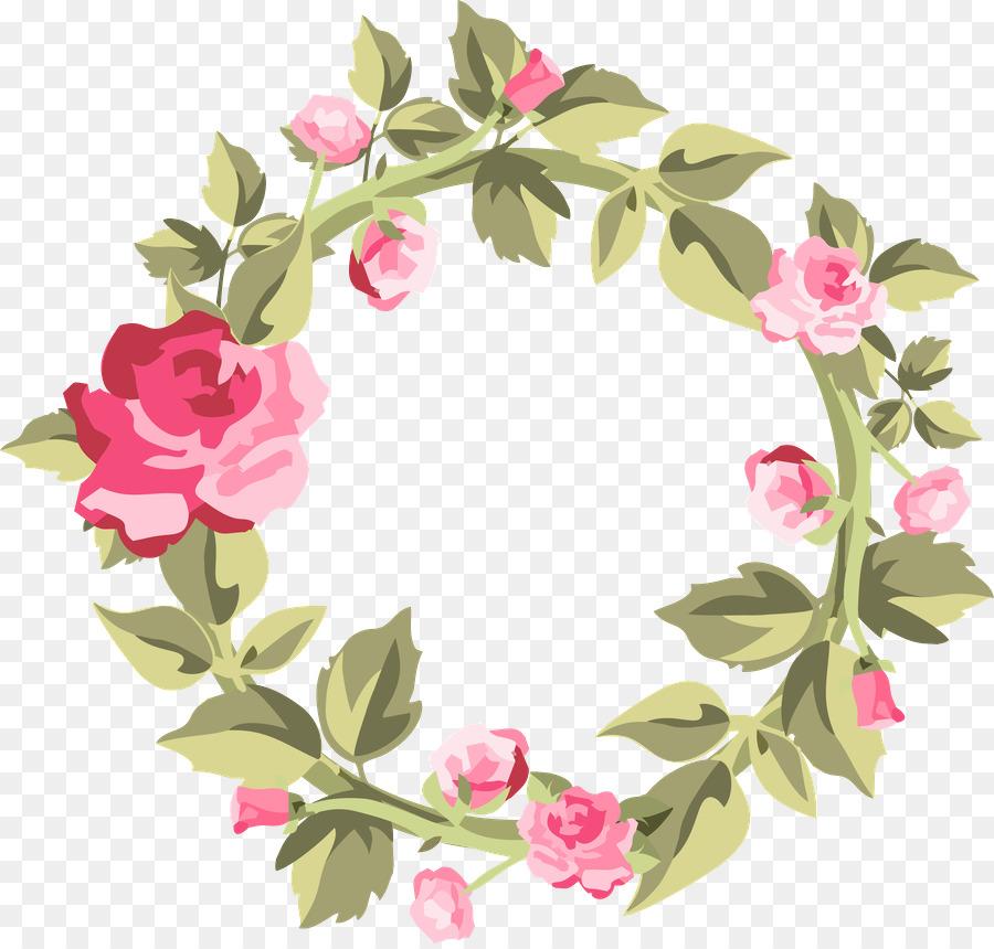 Watercolor Wreath Flower clipart.
