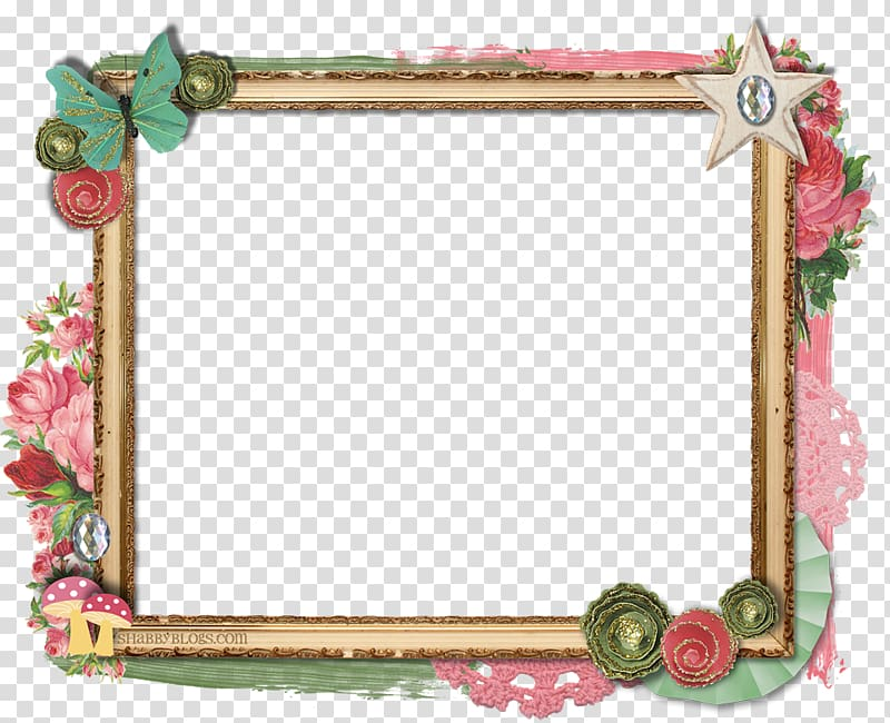 Frames Shabby chic , Frame Border transparent background PNG.