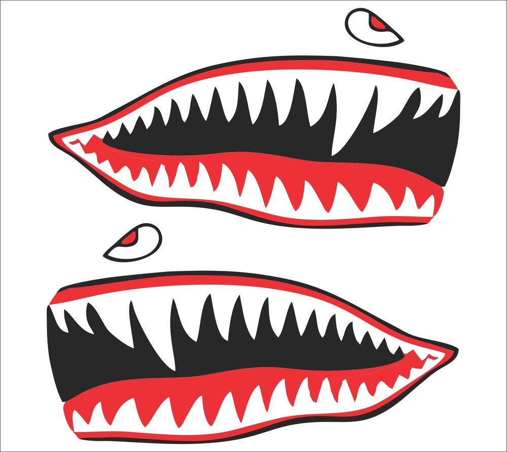 fighter shark mouth.