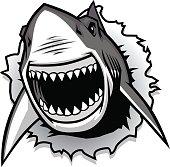 Shark Bite Clip Art, Vector Shark Bite.