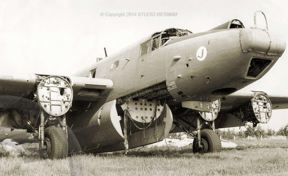 Wrecked RAF aircraft.