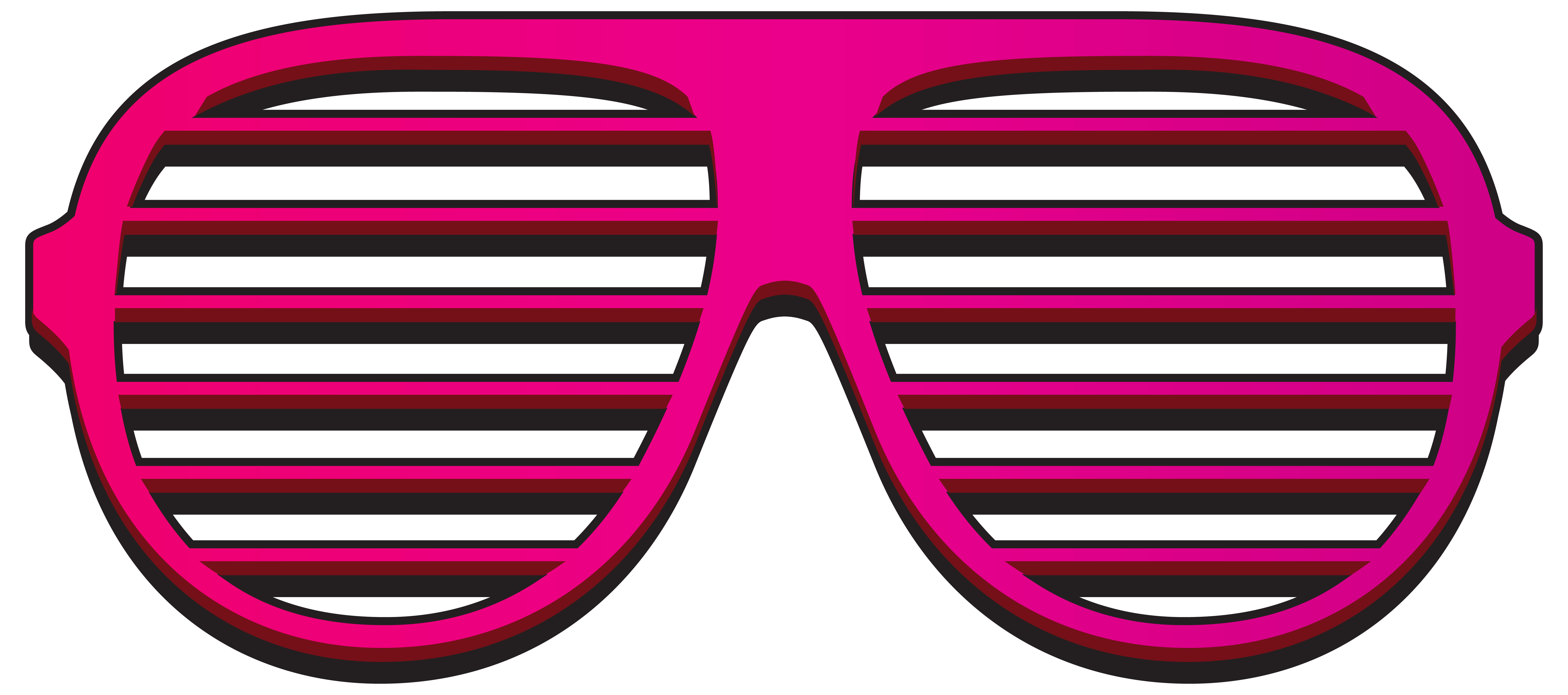 Pink Shutter Shades PNG Clipart Image.