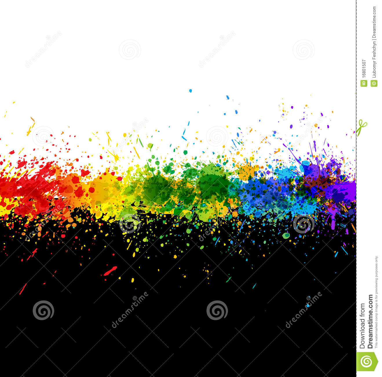 Color Paint Splashes. Gradient Background Royalty Free Stock.
