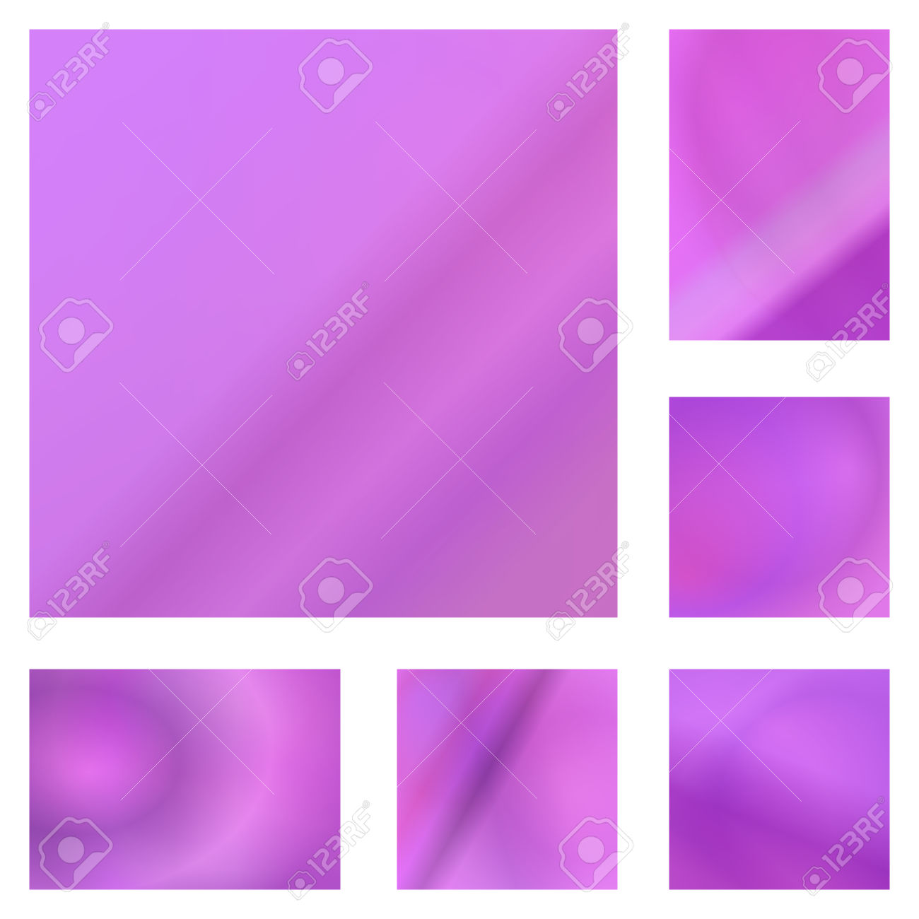 Pink Color Abstract Gradient Background Design Set Royalty Free.