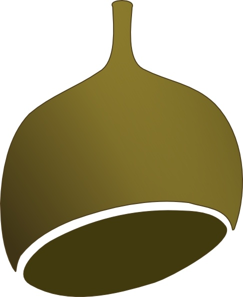Gumnut Shaded clip art Free vector in Open office drawing svg.