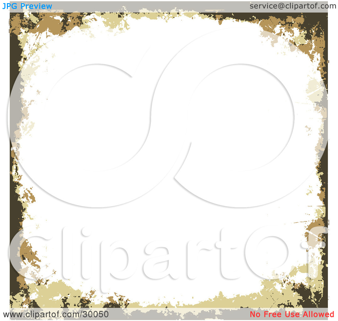 Clipart Illustration of a White Square Grunge Background Bordered.