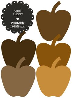 Lips Clipart in Shades of Brown from PrintableTreats.com.