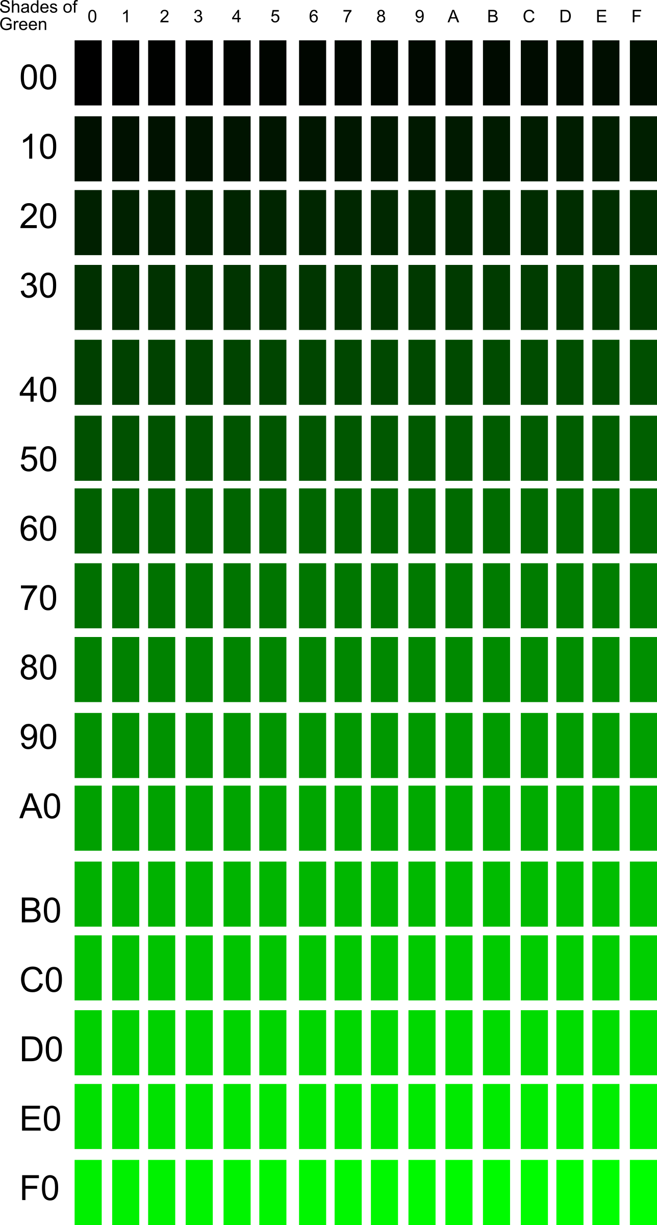 Shades Of Green Clipart.