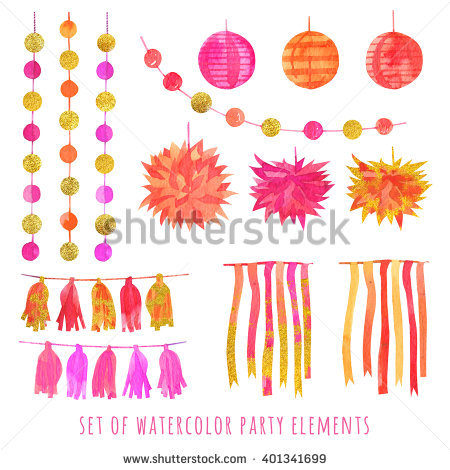 Pink And Gold Watercolor Stock Photos, Royalty.