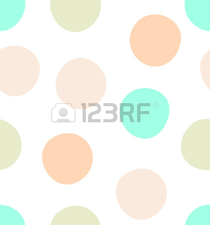 Cute Kids Polka Dot Colorful Seamless Pattern With Glittering.