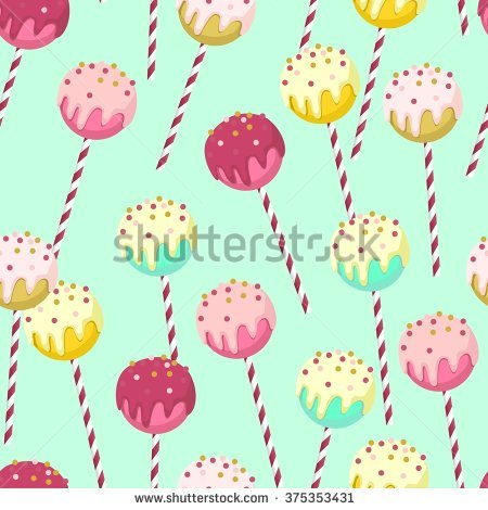 Candy Seamless Pattern Different Colors Chocolate Stock.
