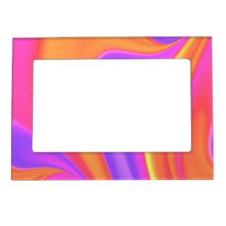 Hot Pink Color Magnetic Picture Frames.