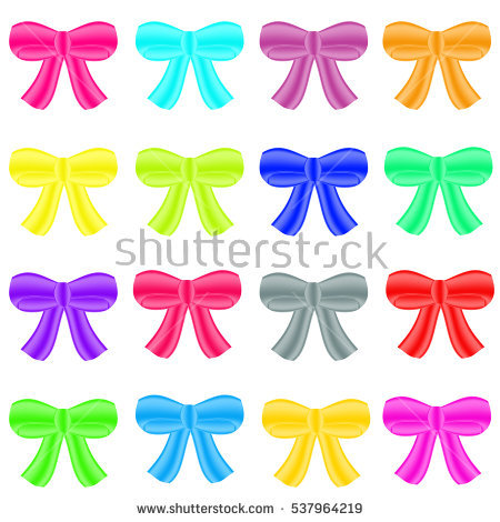 Pink And Orange Bows Stock Photos, Royalty.