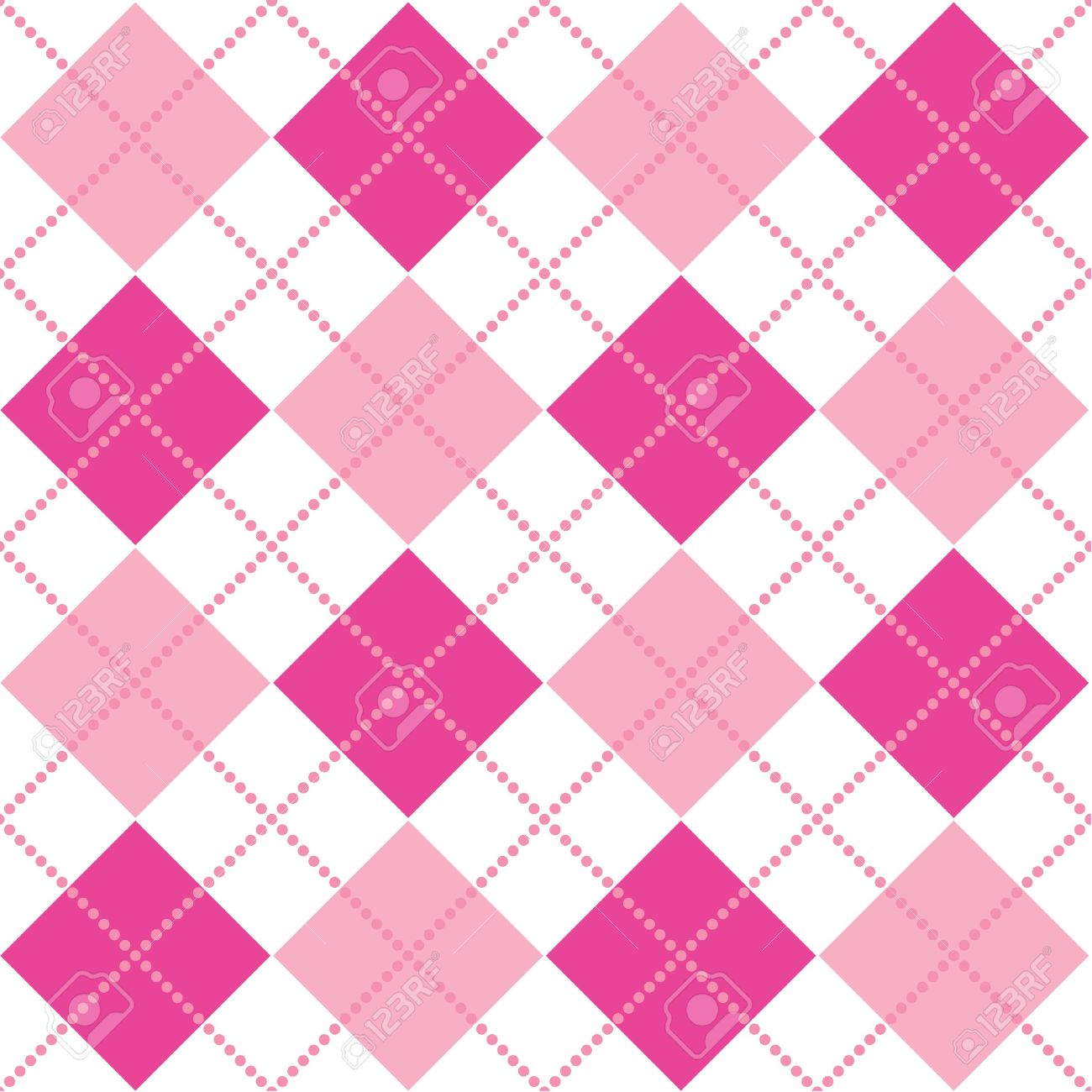 An Argyle Pattern In Shades Of Pink Stock Photo, Picture And.