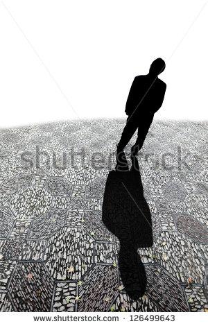 Silhouette man shade clipart.