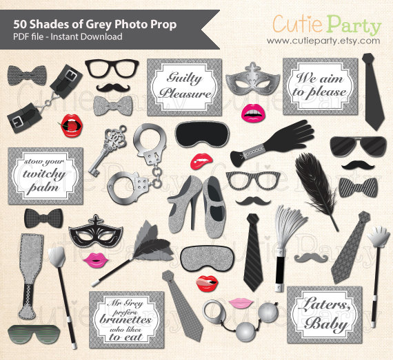 50 Shades of Grey Theme Party Photo Booth Prop 50 Shades of.